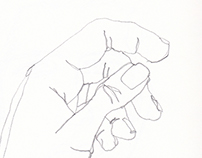 FND110 A Observational Drawing - Contour Drawings
