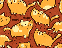 Cats poster/pattern