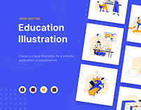 Erika - Education Illustration Kit