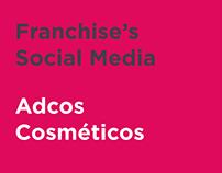Adcos Cosméticos - Franchise's Social Media