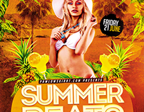 Summer Beats Party Flyer Template