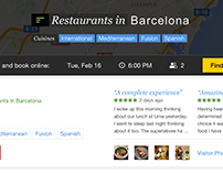 Filtered Search Results, Trip Advisor