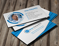 Business Card Design with mockups.