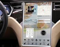 Interface Tableau de bord Tesla