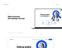 WSG University redesign concept
