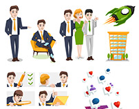 Vector icons and Illustration for presentation