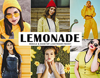 Free Lemonade Mobile & Desktop Lightroom Preset