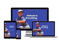 Website Design for Travel Baseball Organization