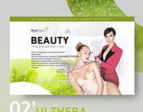 Web design | Cosmetology & beauty Landing
