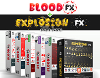 100 Blood FX and 10 Explosion FX