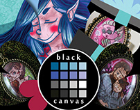 Black Canvas -flyer design