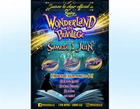 Wonderland in Privilege graphic design