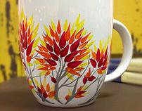 Nature - Hand Painted Coffee Mugs
