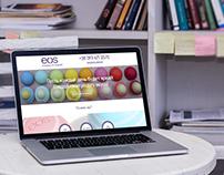 Landing page EOS online shop
