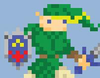 Legend Pixel Art Poster