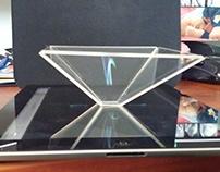 Triangle holographique pour mobile.
