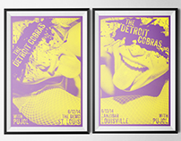 The Detroit Cobras 2014 Gig Posters