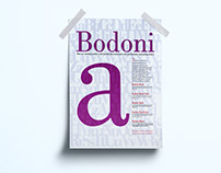 Bodoni Typographical Poster