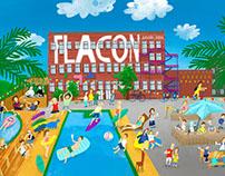 """poster """"Flacon design-zavod"""""""