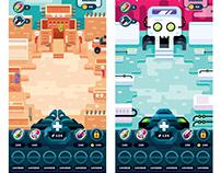Flat Design Game Levels