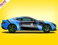 Aston Martin Car Branding Mockup Free PSD