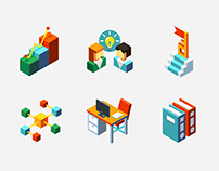 Business Management - Isometric Design