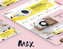 Landing page MAX - Manicure Tools, Equipment & Products