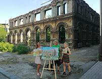 Pleinair on the ruins of Mariupol Synagogue