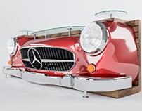 Media console Mercedes Benz.