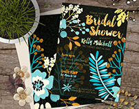 Bridal Shower Invitations (X4)
