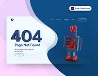 404 Error Page - (Freebie)
