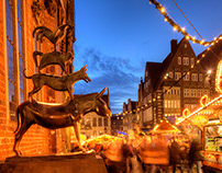Bremer Christmas Market, Bremen, Germany, Europe