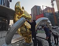 Ox public sculpture production