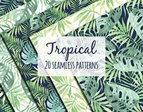 Tropical design in watercolor.