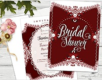 Red & White | Invitations