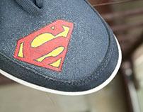 I Superman I Hand Painted Shoes I