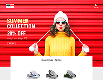 Ecommerce webpage concept