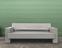 concrete garden bench BLOKE