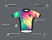 Colourbomb Cycling Wear Kit (Low Poly Fashion)