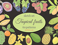 "Sketch ""Tropical fruits"""