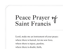 Prayer øf Saint Francis _ Print