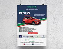 Road Tax Renew Flyer