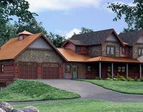 MN Rustic House Rendering