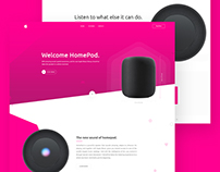 Apple Home Pod Landing Page