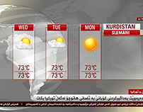 Vizrt Kurdsat 1 News at 9 Graphics.