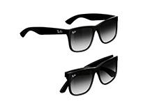 Rayban Sunglass 3D model - Justin Classic