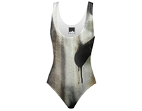 Brooklyn Graffiti Swimsuit. Textile Design.