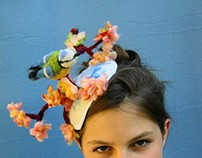 Ozmonda And the spring is here! Cocktail hat by Ozmonda