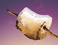 """Inktober """"Roasted"""" Marshmallow"""