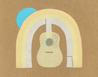 Earth Music Linocut